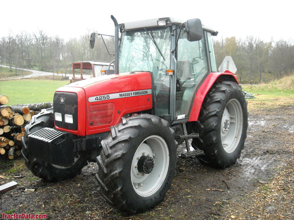Massey Ferguson 4255 with cab and four-wheel drive.