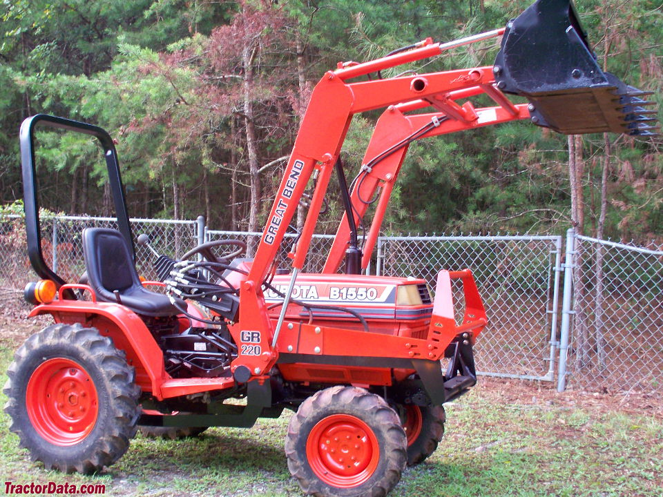 Kubota B1550 with Great Bend GB220 front-end loader.