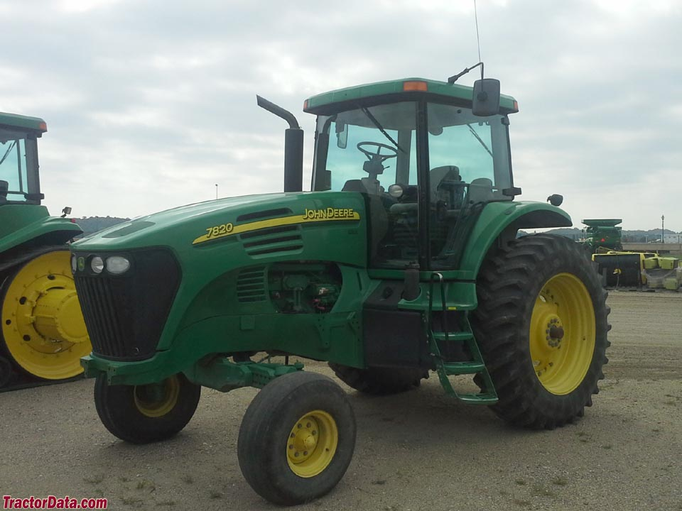 John Deere 7820 with two-wheel drive.