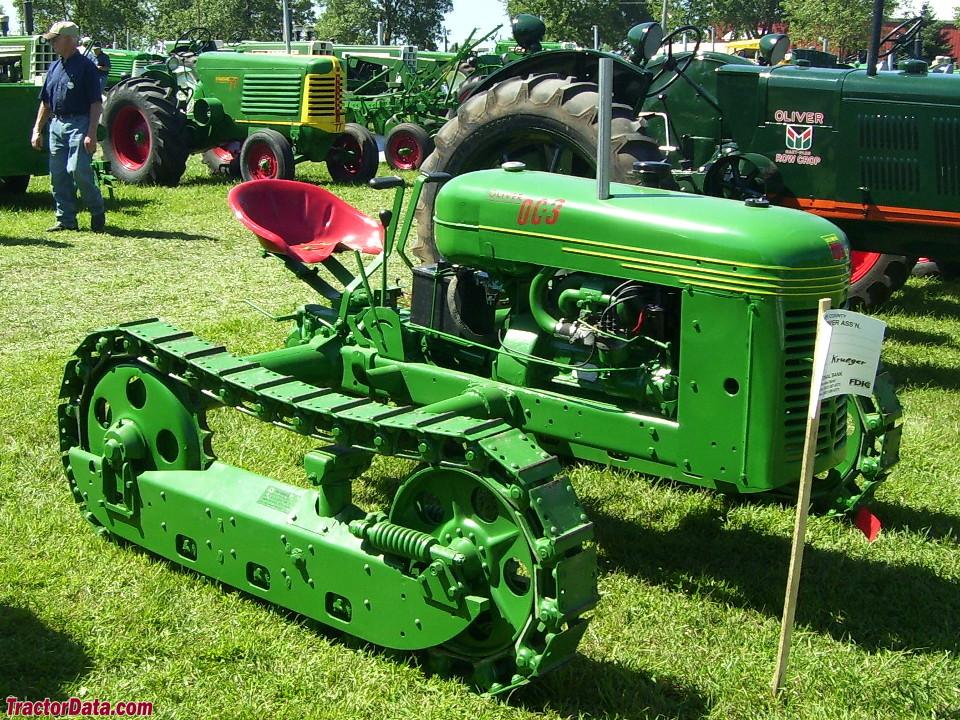 Wide-gauge Oliver OC-3 ag crawler.