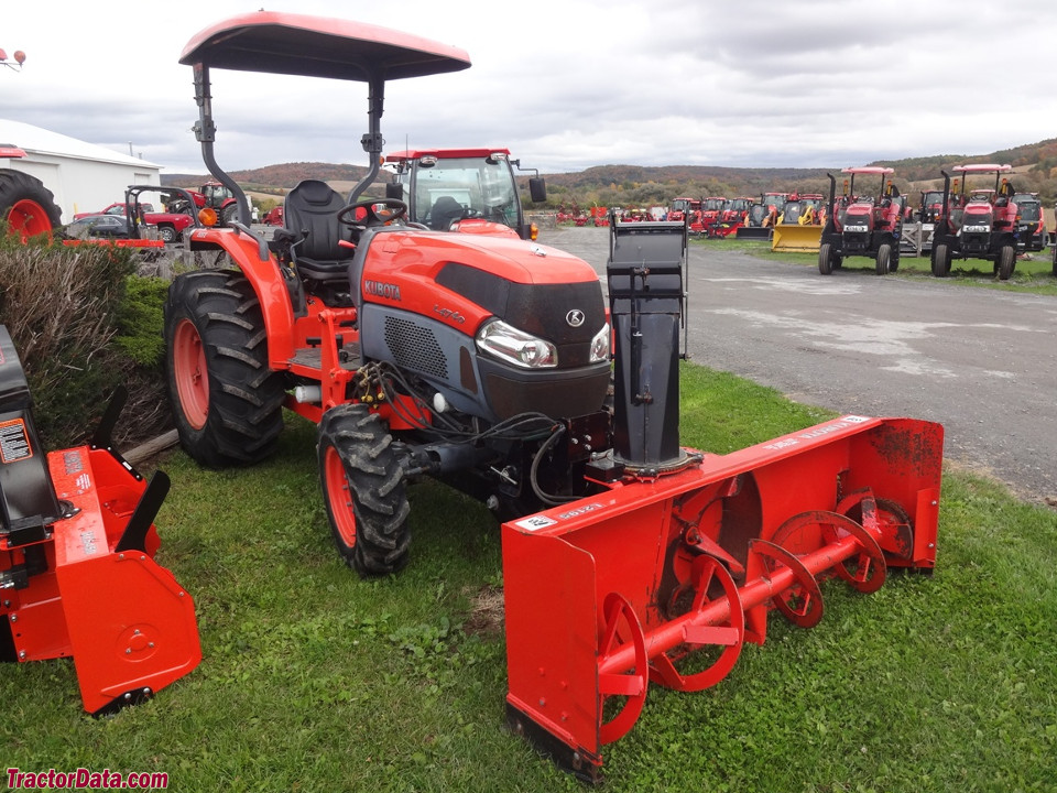 Kubota L4740 with L2195 snowblower.