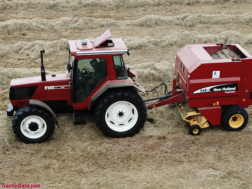Fiat F110 with baler.