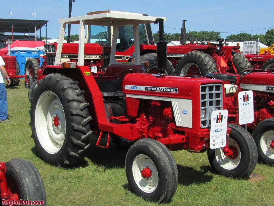 International 475 tractor.