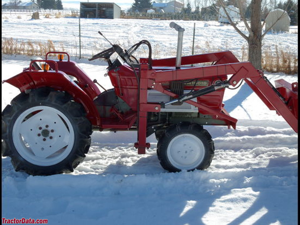 Yanmar YM1601D with front-end loader.