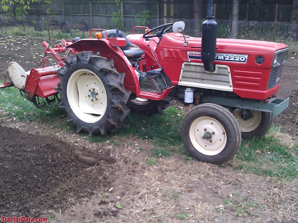 Yanmar YM2220 two-wheel drive tractor with tiller.