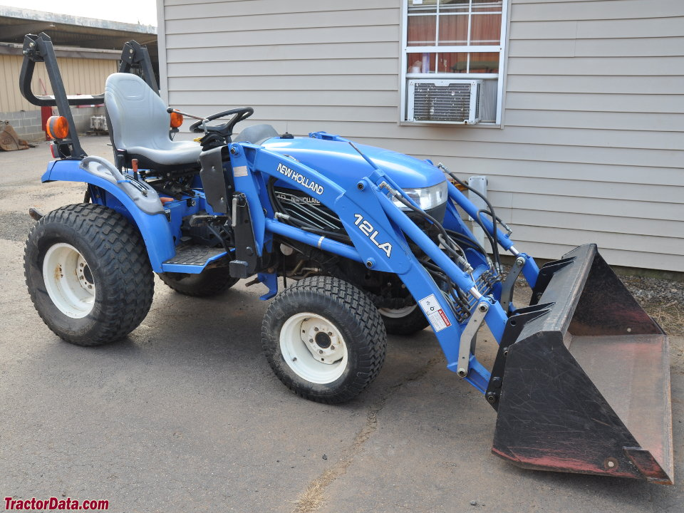 New Holland TC21D with 12LA front-end loader.