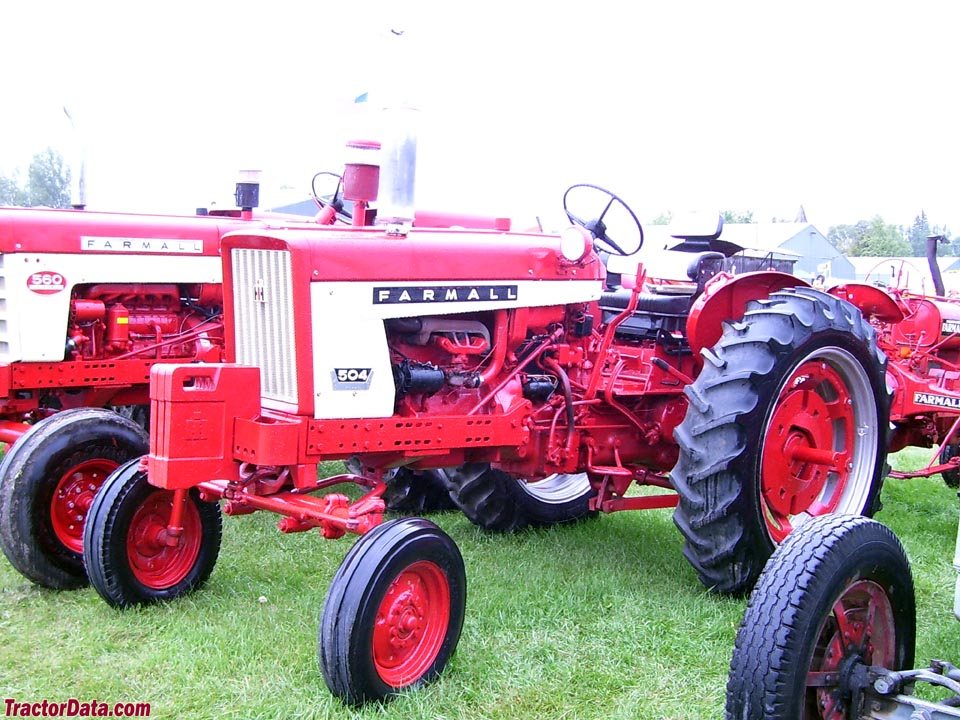 Farmall 504 with wide front, left side