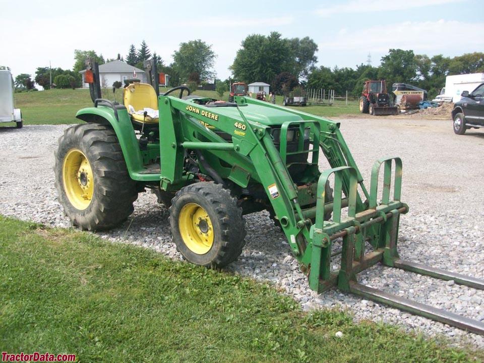 John Deere 4600 with model 460 front-end loader.