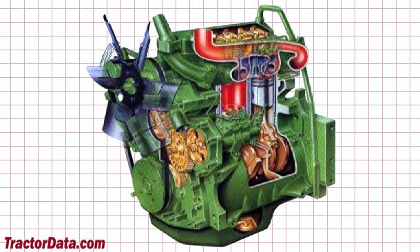 John Deere 1750  engine photo