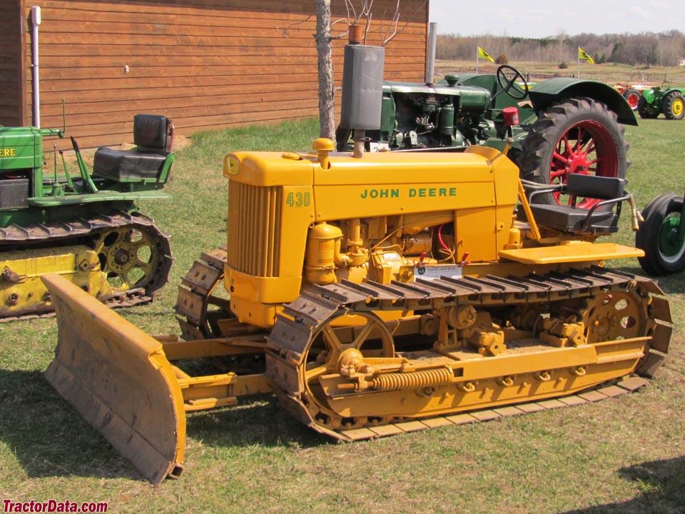 John Deere 430C in industrial yellow paint.