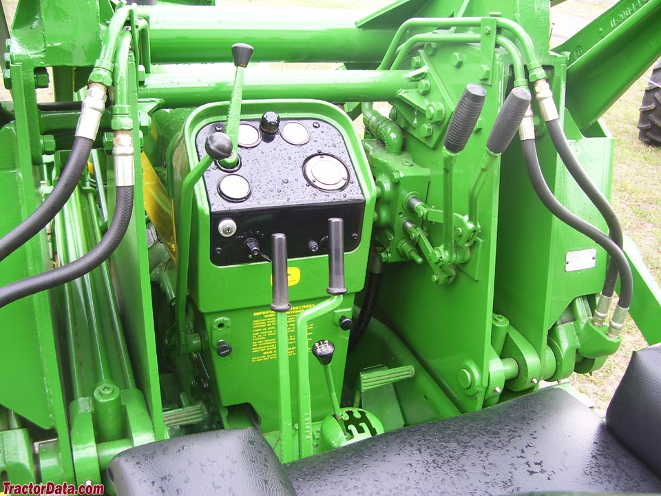 Operator station and controls for John Deere 430C with 90 loader.