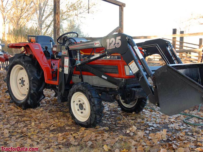Yanmar F215 with front-end loader.