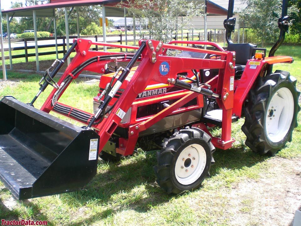 US-imported Yanmar FX235 with ROPS and loader.