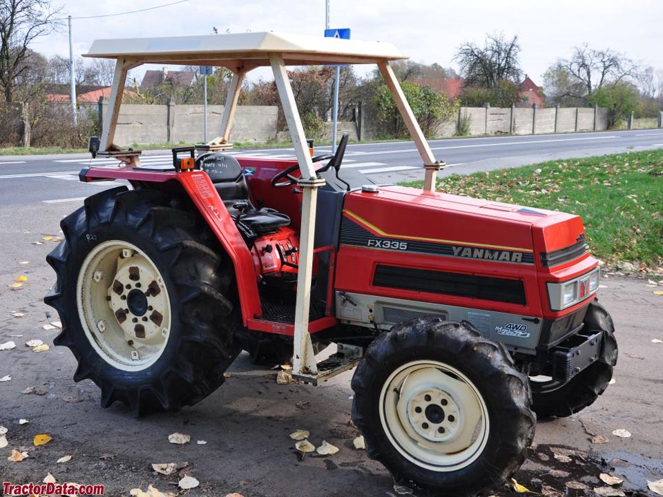 Yanmar FX335D with four-post ROPS.
