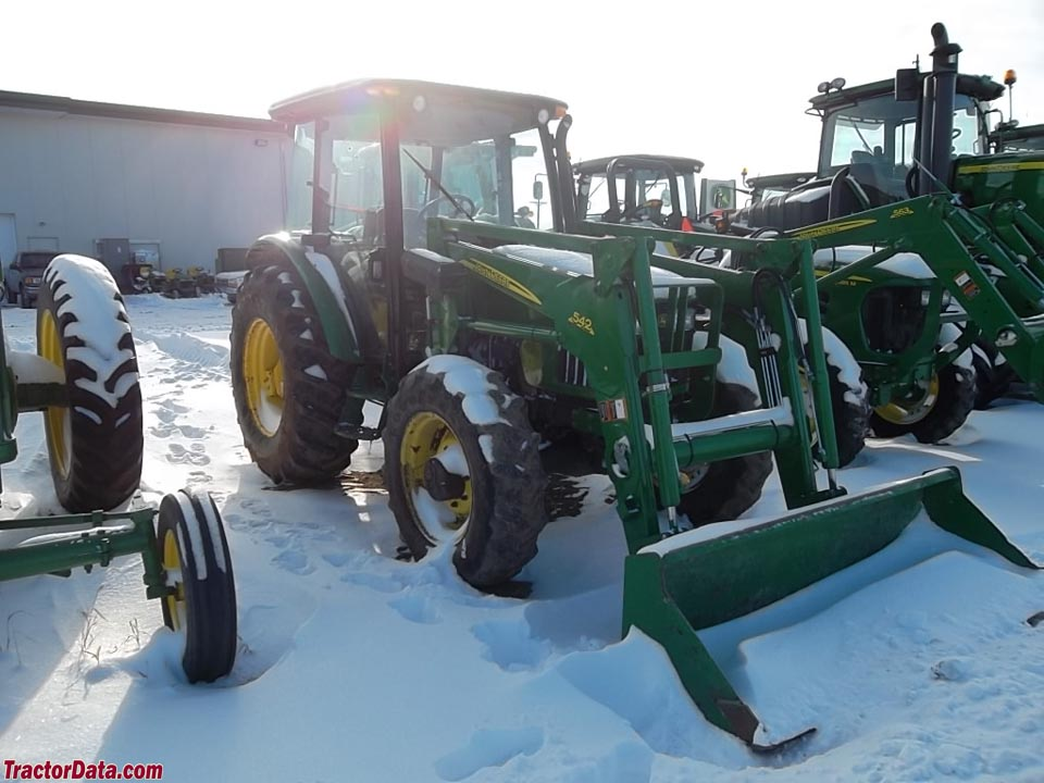 John Deere 5603 with cab and model 542 loader.