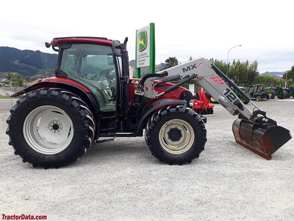 Four-wheel drive Case IH Maxxum 115 with loader