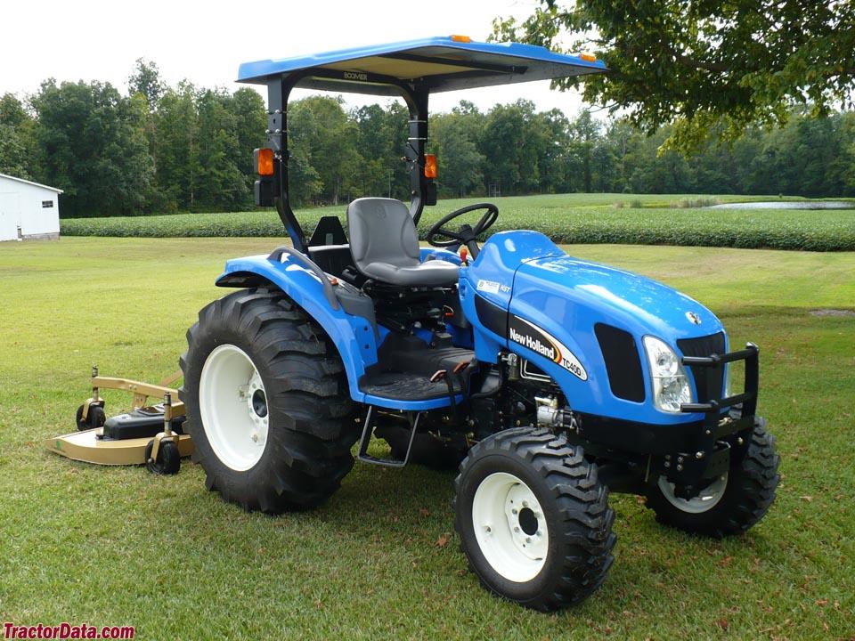 New Holland TC40DA with mower.