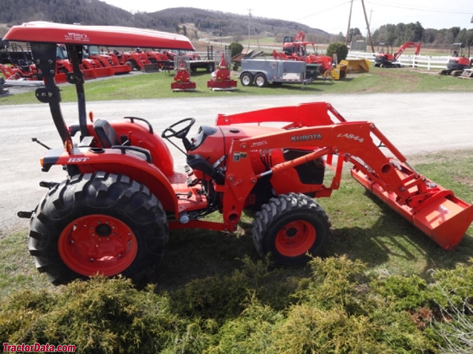 Kubota MX5100 with LA844 front-end loader.