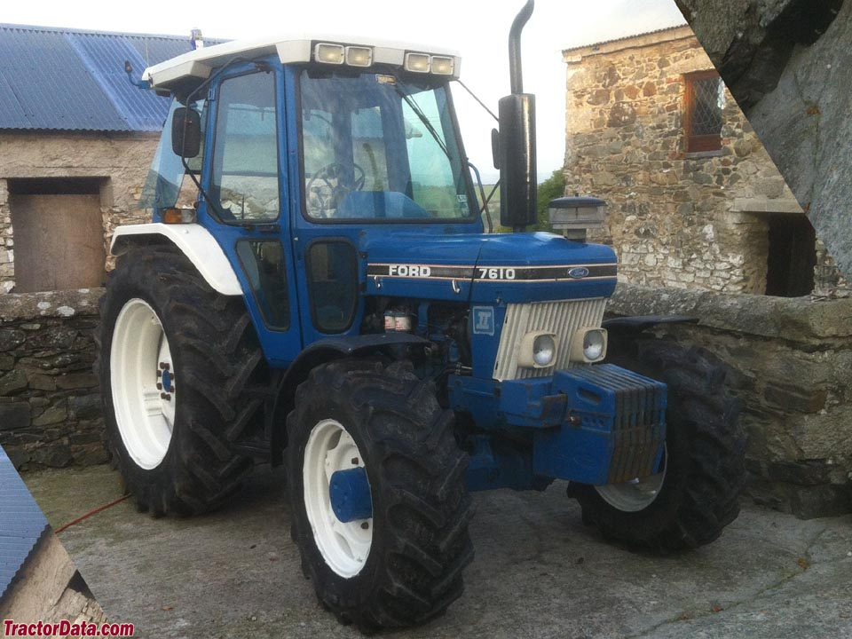 Ford 7610 Series II with four-wheel drive.