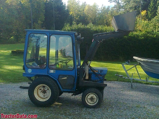 Iseki TX 1500F with loader and cab.
