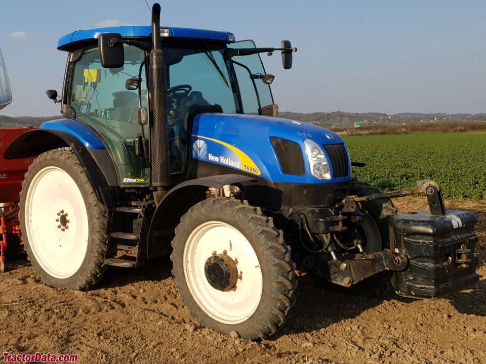 New Holland T6060, right side.