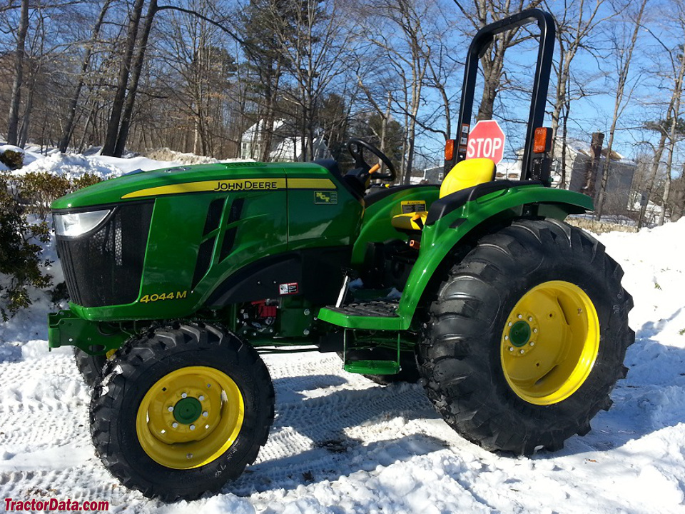 Jon Deere 4044M, left side.
