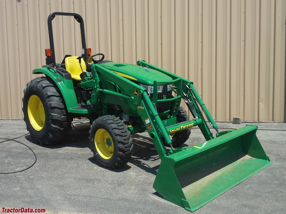 John Deere 4066M with D170 front-end loader.