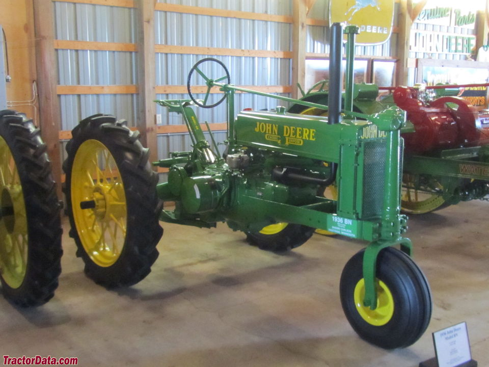 Unstyled 1969 John Deere BN with rubber tires..