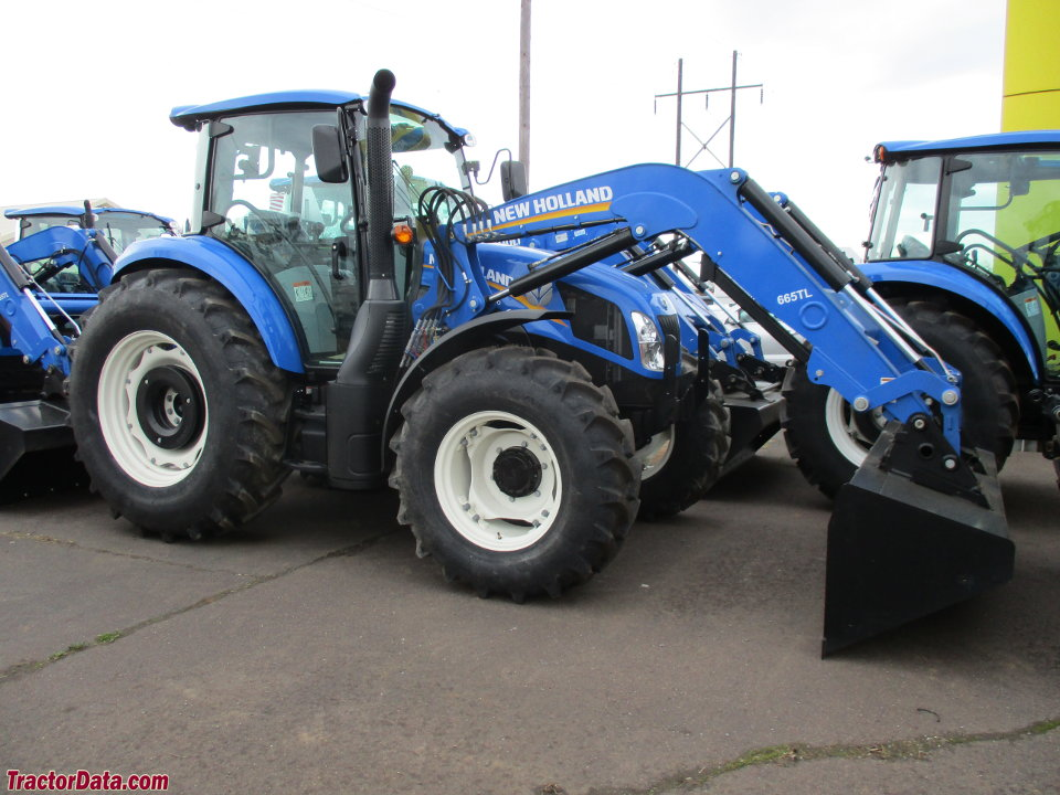 New Holland T4.100 with 655TL front-end loader.