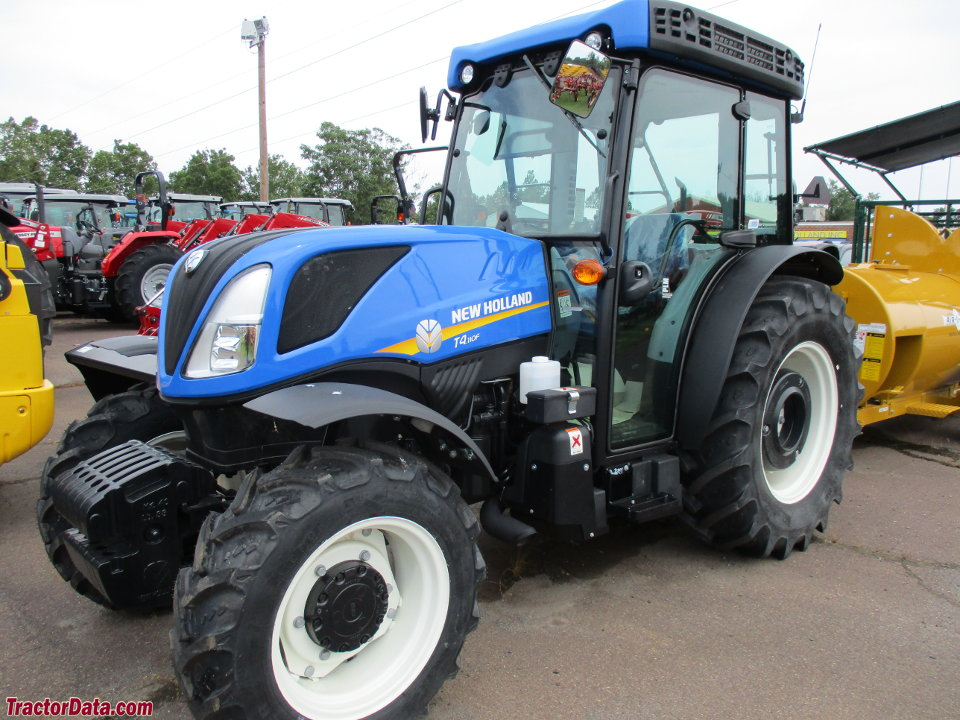 New Holland T4.110F narrow-profile tractor.