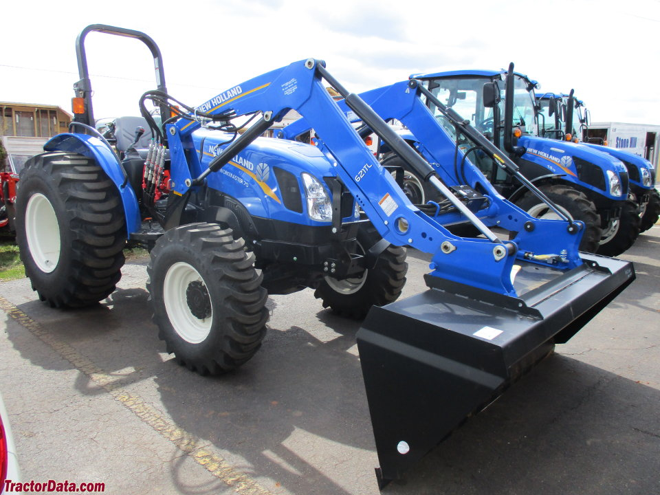 New Holland Workmaster 70 with 621TL front-end loader.