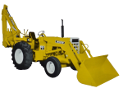 White 2-63 backhoe loader tractor.